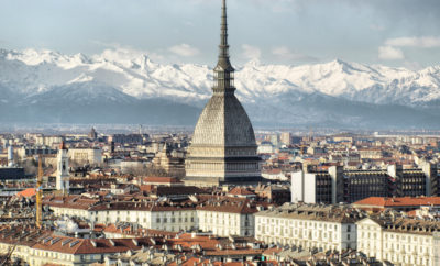 City of Turin (Torino) skyline panorama seen from the hill - high dynamic range HDR